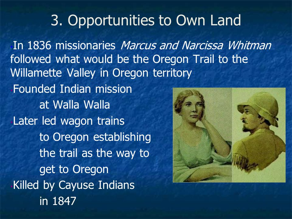 3. Opportunities to Own Land