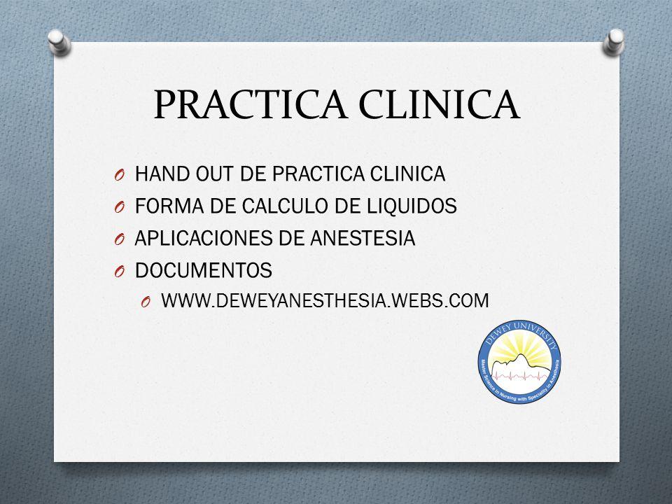 PRACTICA CLINICA HAND OUT DE PRACTICA CLINICA