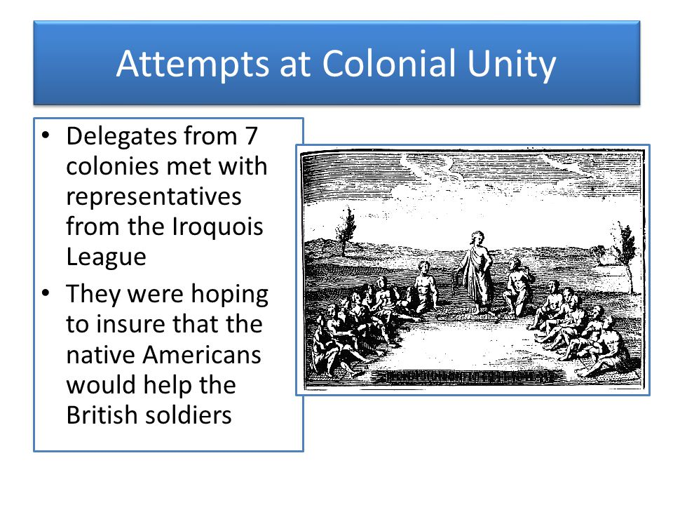 Attempts at Colonial Unity