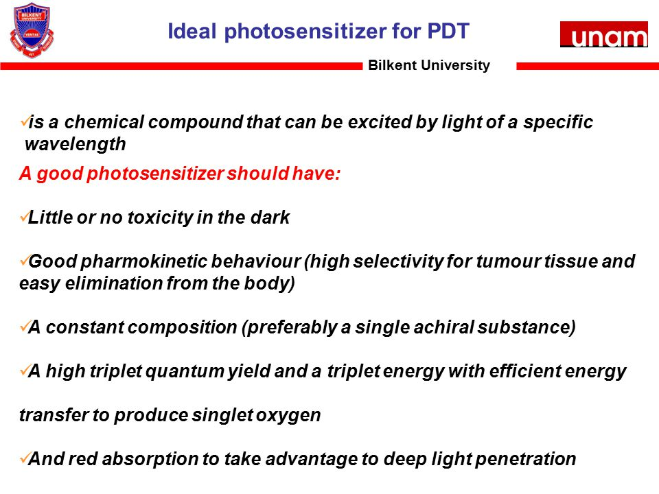 Ideal photosensitizer for PDT