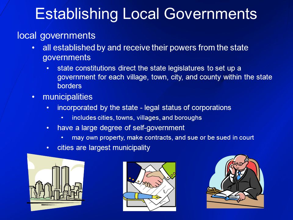 Establishing Local Governments