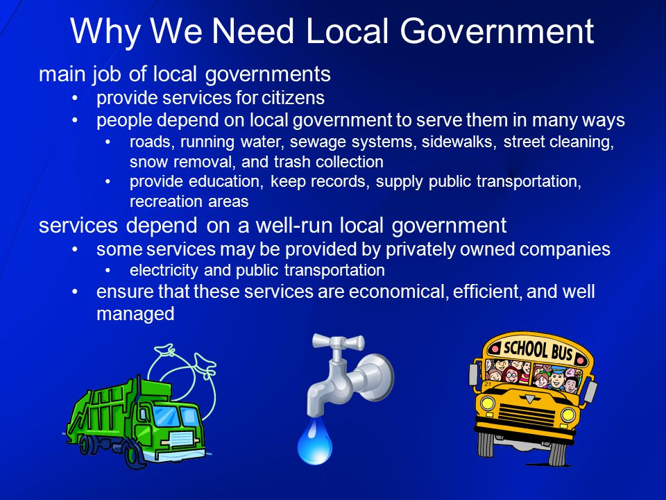 Why We Need Local Government