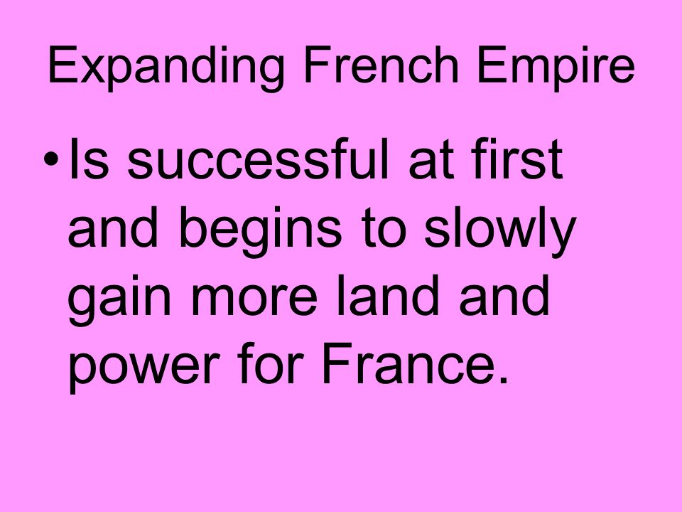 Expanding French Empire