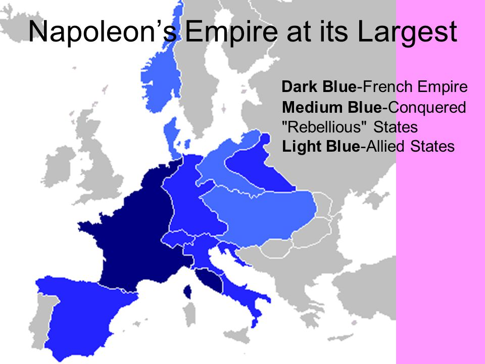 Napoleon's Empire at its Largest