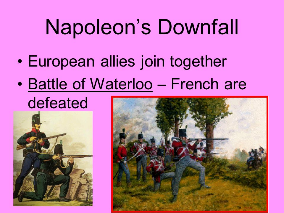 Napoleon's Downfall European allies join together