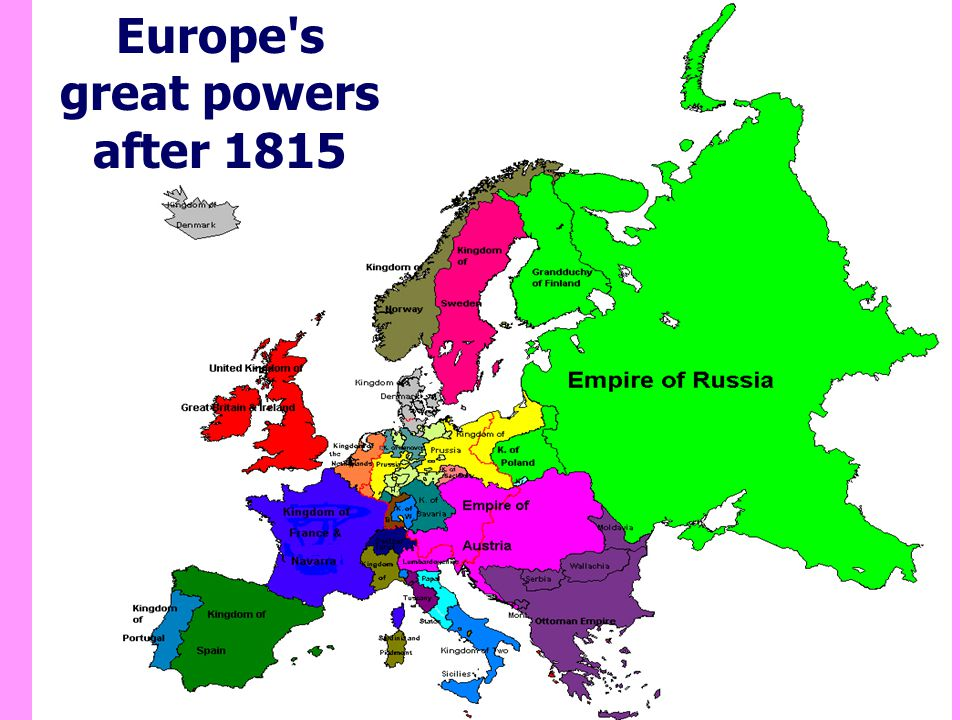 Europe s great powers after 1815