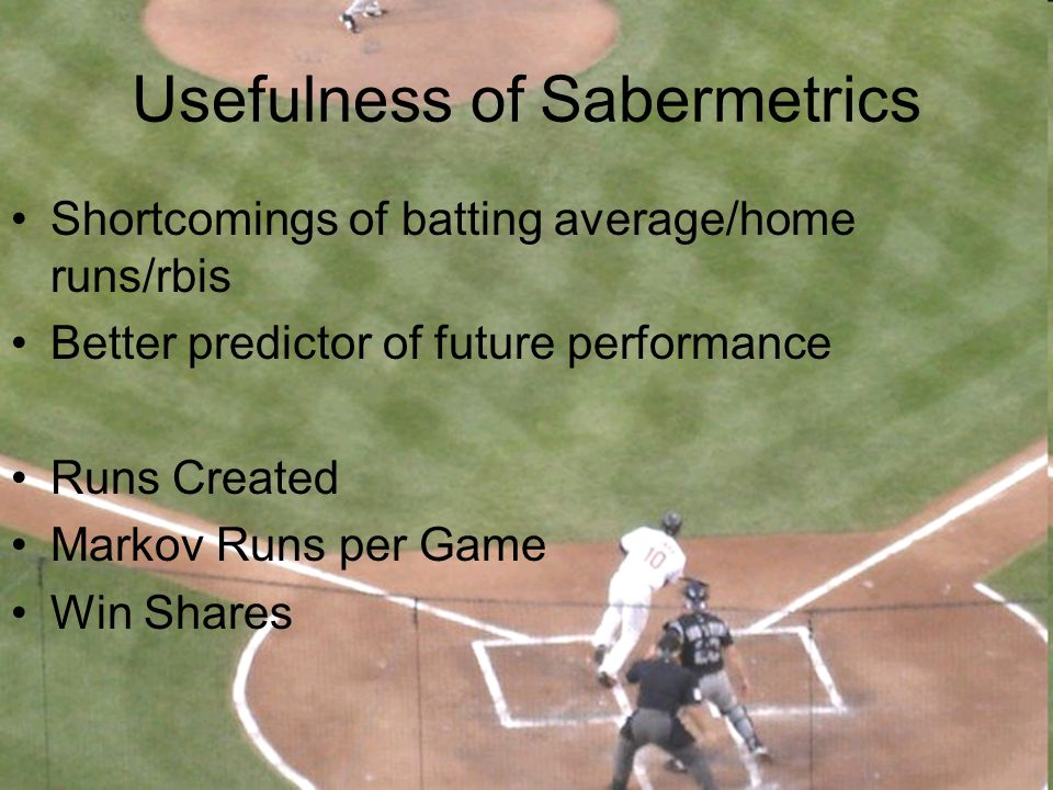 Usefulness of Sabermetrics