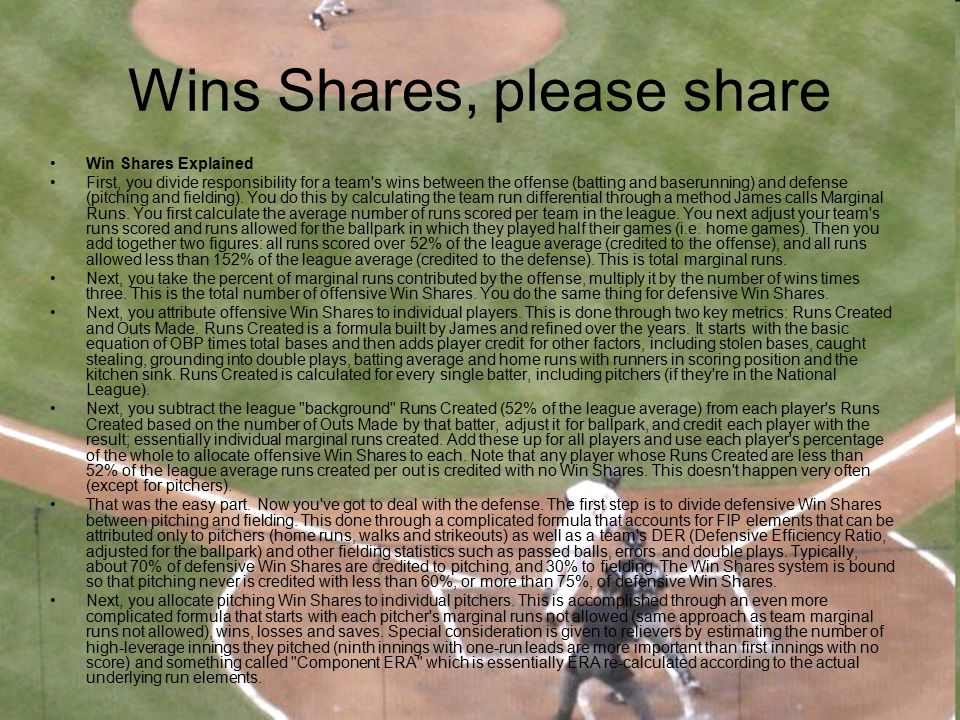 Wins Shares, please share
