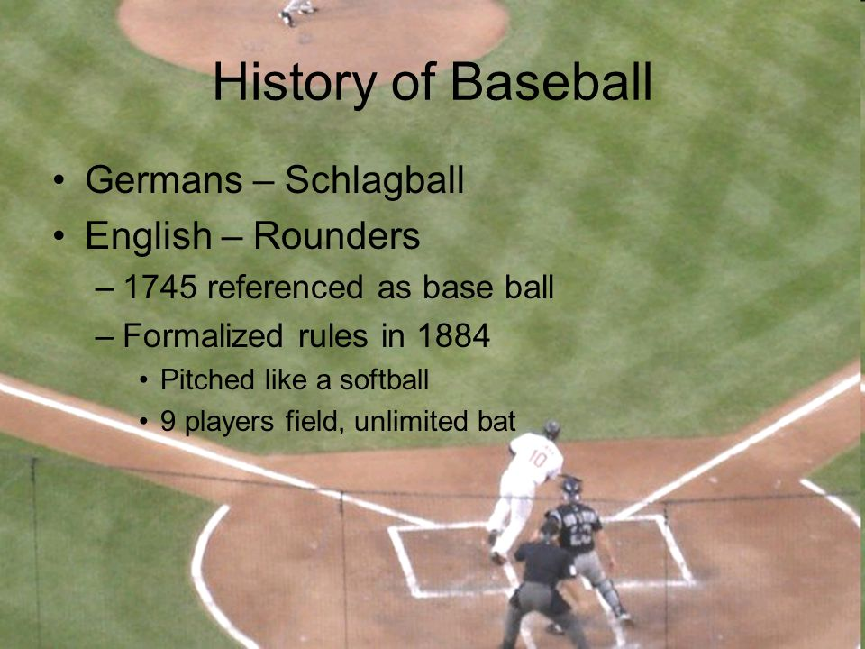 History of Baseball Germans – Schlagball English – Rounders