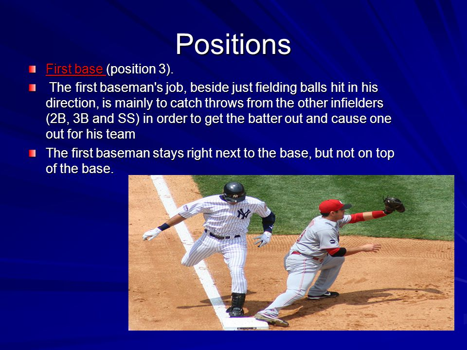 Positions First base (position 3).