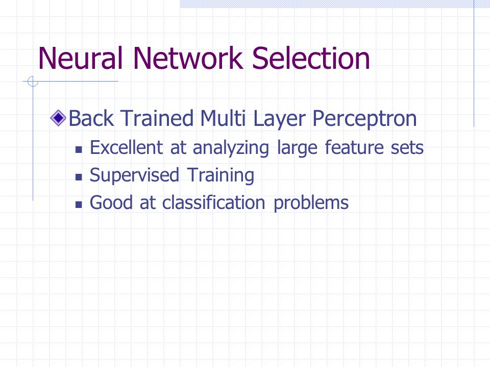 Neural Network Selection