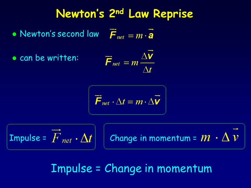 Newton's 2nd Law Reprise