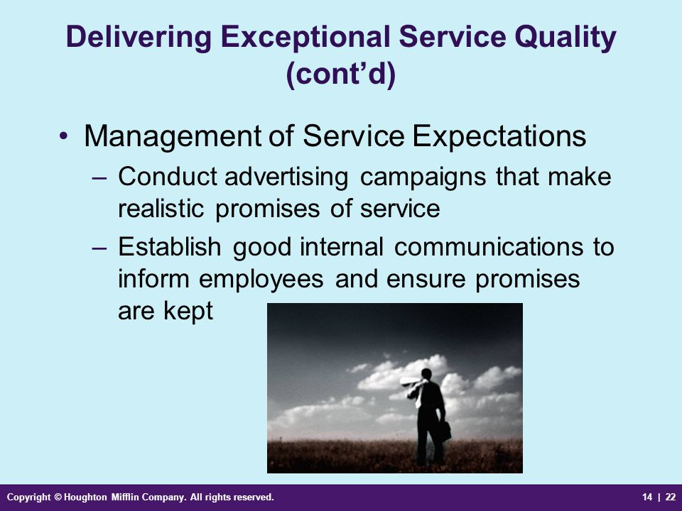 Delivering Exceptional Service Quality (cont'd)