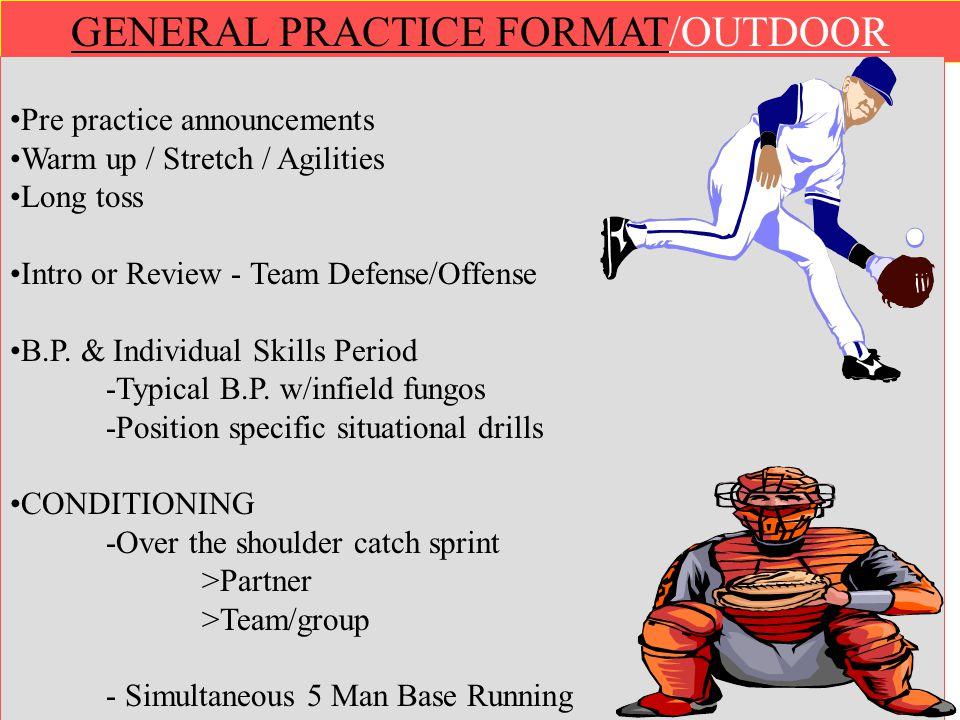 GENERAL PRACTICE FORMAT/OUTDOOR