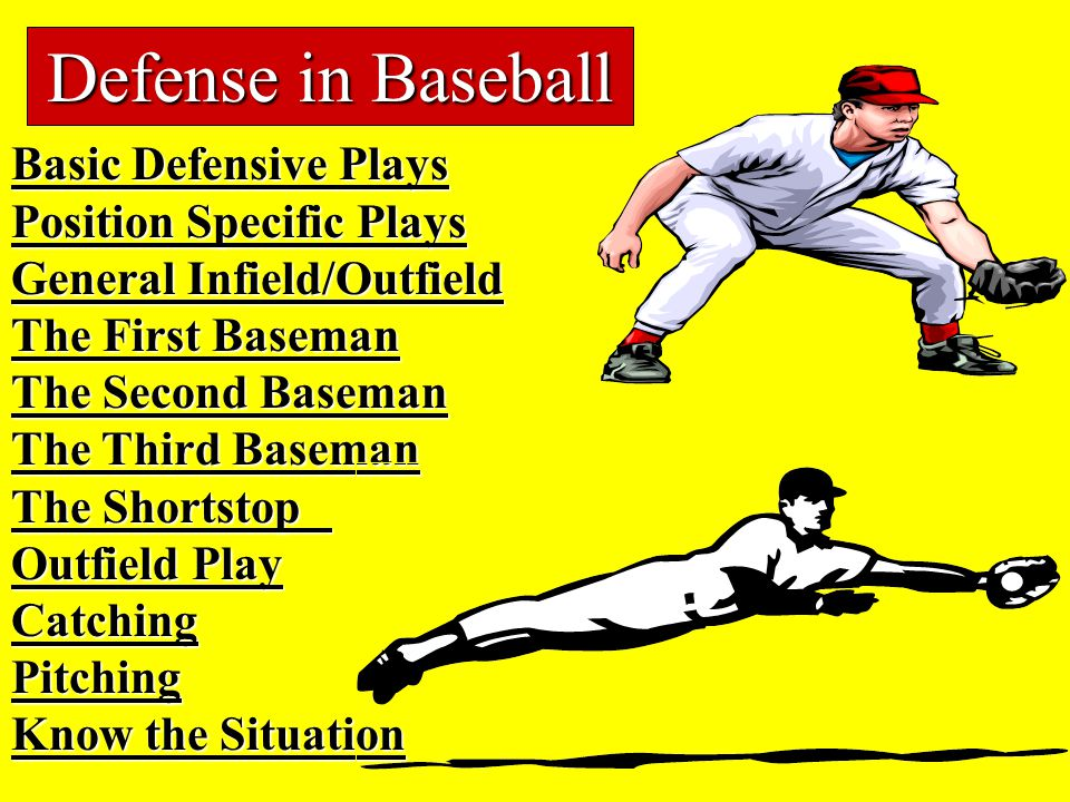 Defense in Baseball Basic Defensive Plays Position Specific Plays