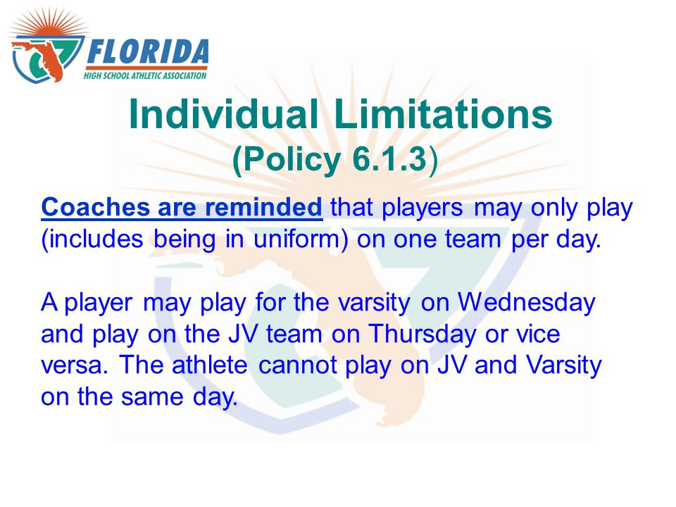 Individual Limitations