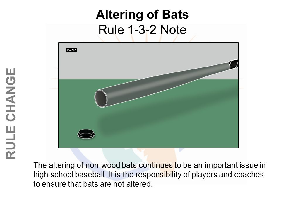 Altering of Bats Rule 1-3-2 Note