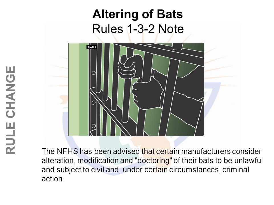 Altering of Bats Rules 1-3-2 Note