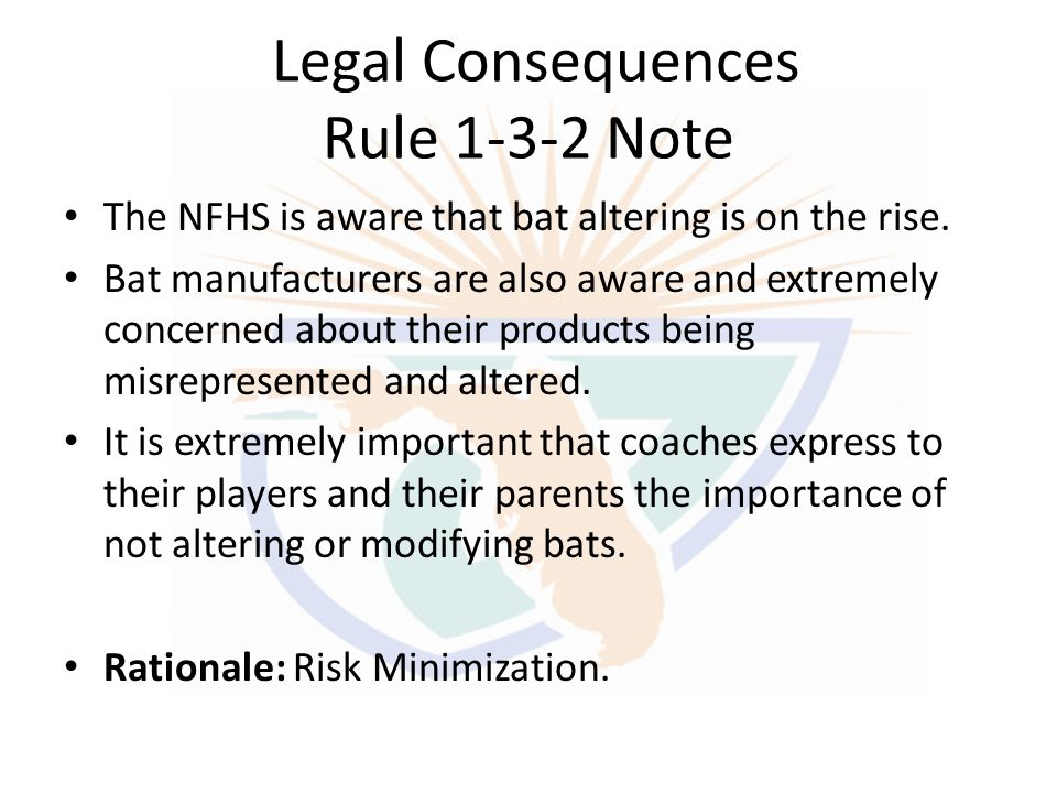 Legal Consequences Rule 1-3-2 Note