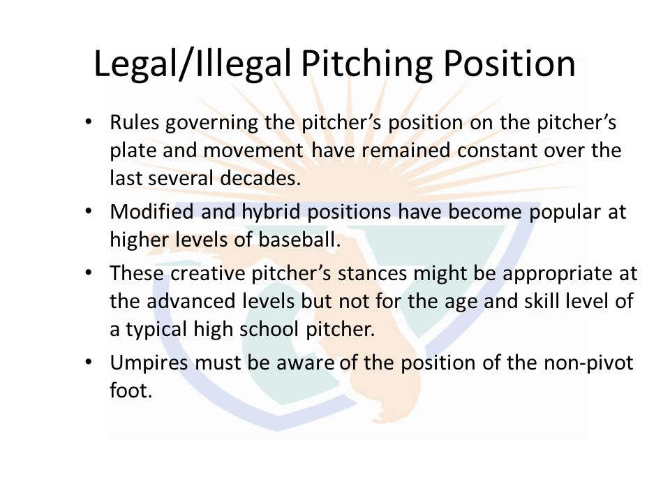 Legal/Illegal Pitching Position