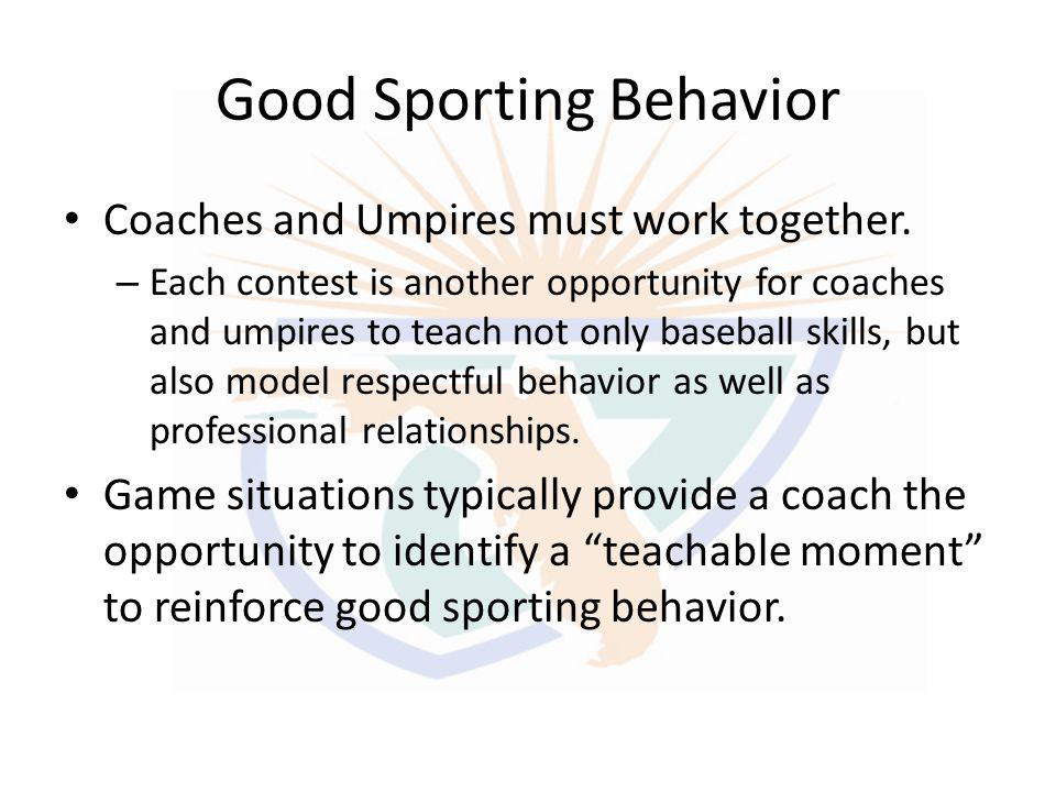 Good Sporting Behavior