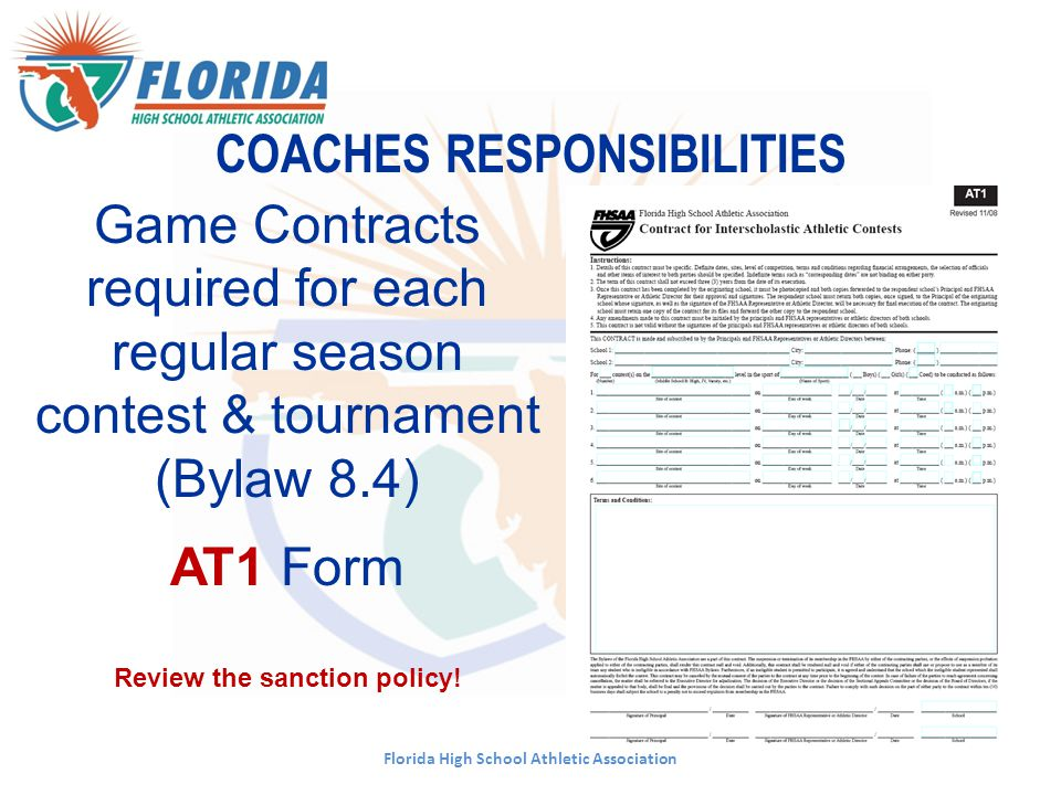 COACHES RESPONSIBILITIES