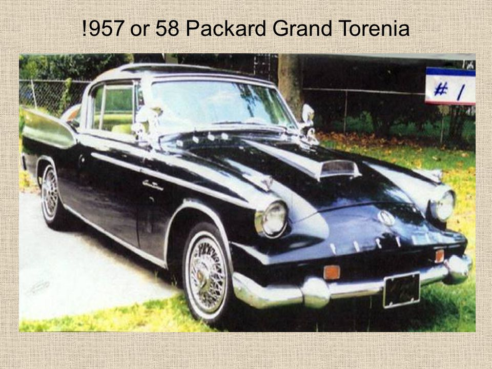 !957 or 58 Packard Grand Torenia