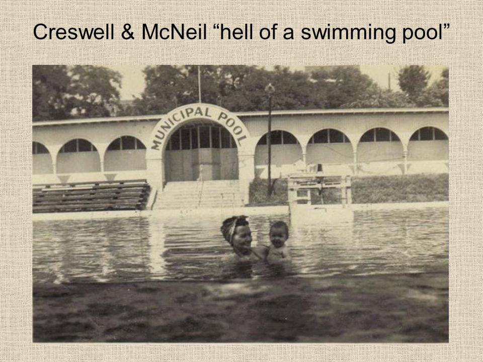 Creswell & McNeil hell of a swimming pool