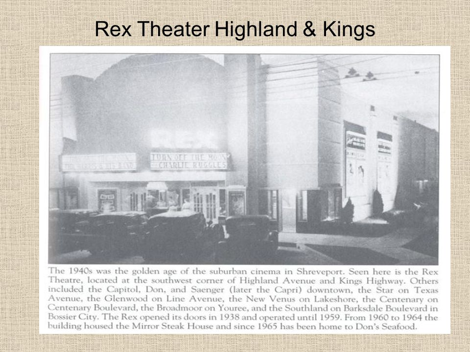 Rex Theater Highland & Kings