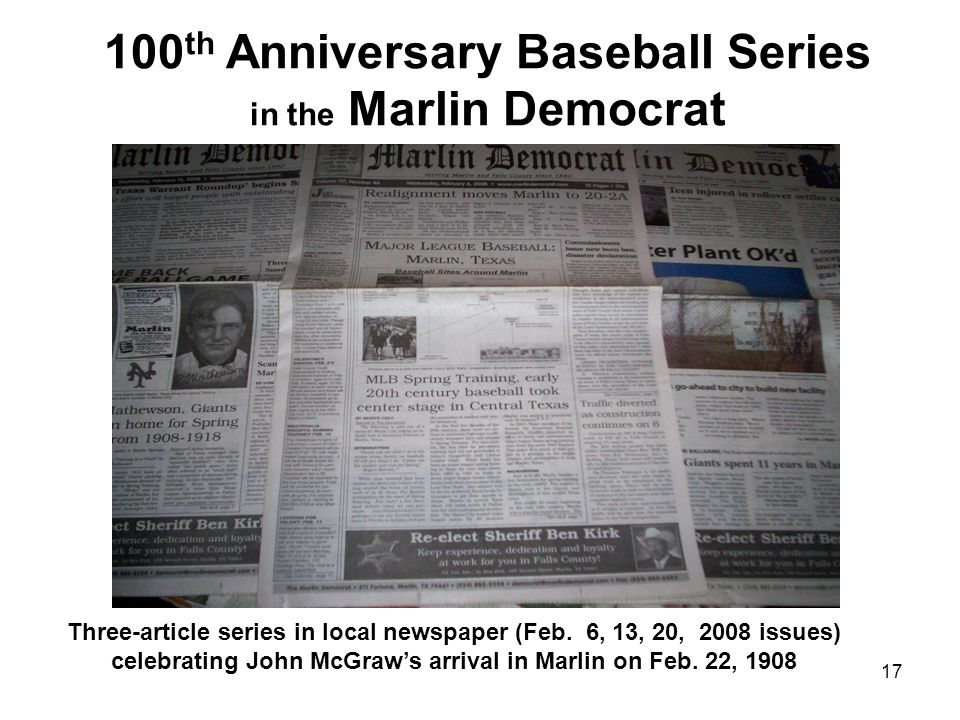 100th Anniversary Baseball Series