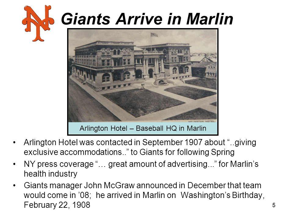 Giants Arrive in Marlin