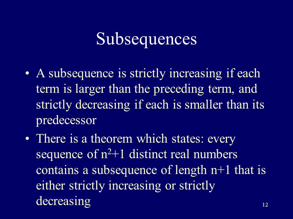 Subsequences