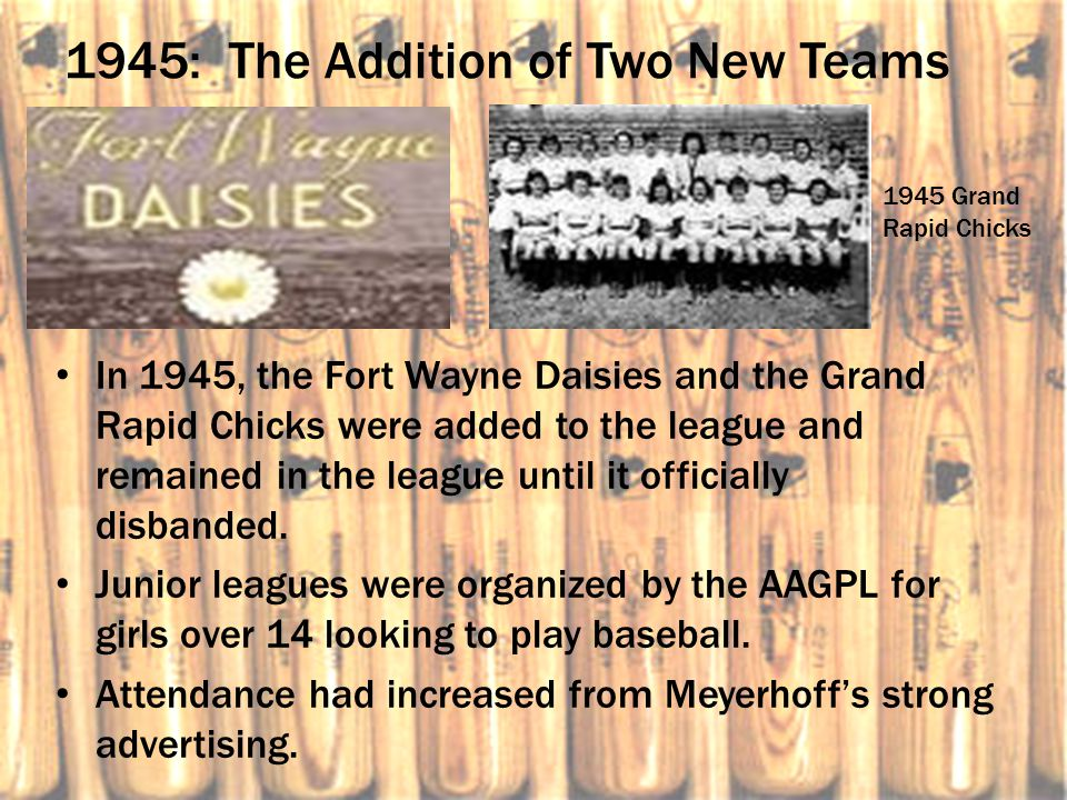 1945: The Addition of Two New Teams