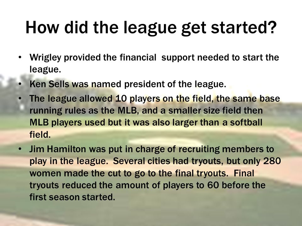 How did the league get started