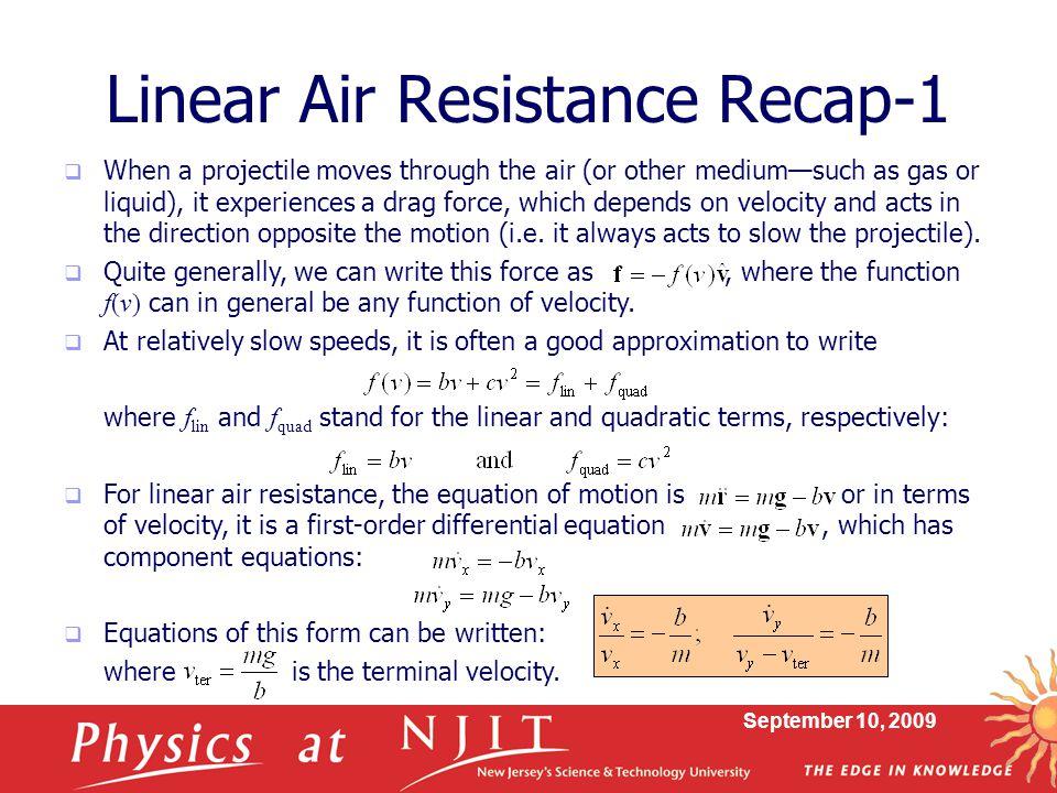 Linear Air Resistance Recap-1