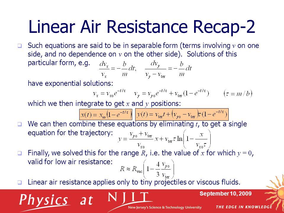 Linear Air Resistance Recap-2