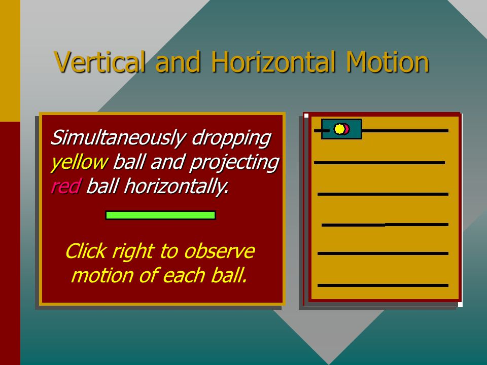 Vertical and Horizontal Motion