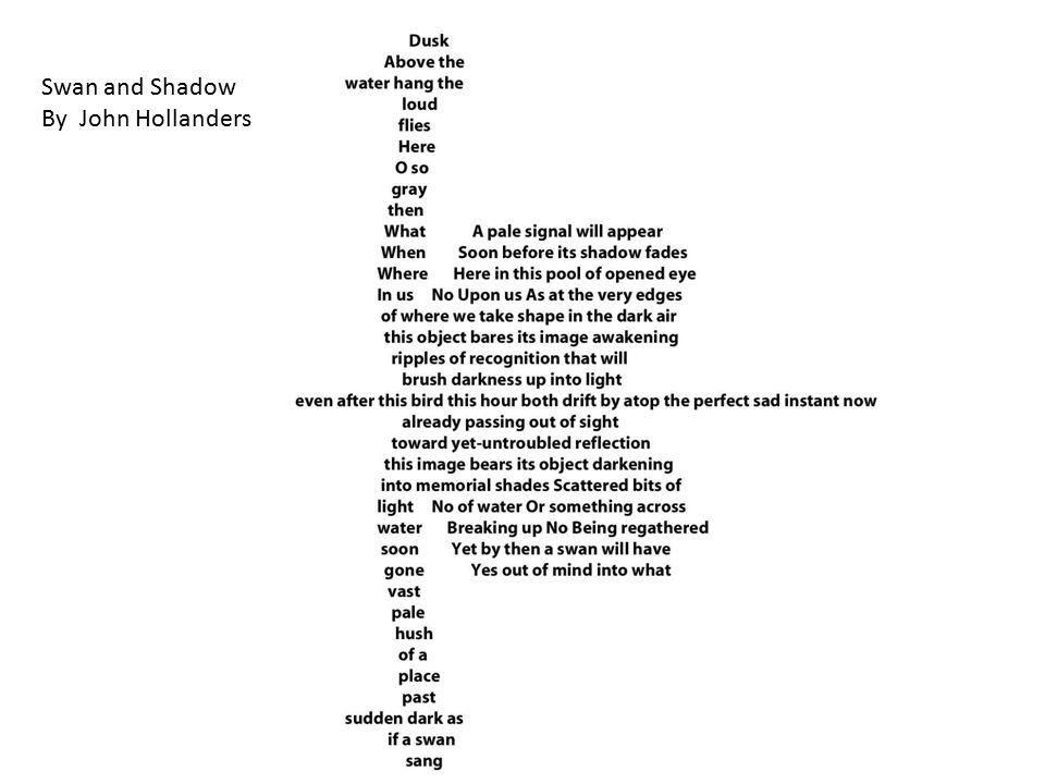 Swan and Shadow By John Hollanders