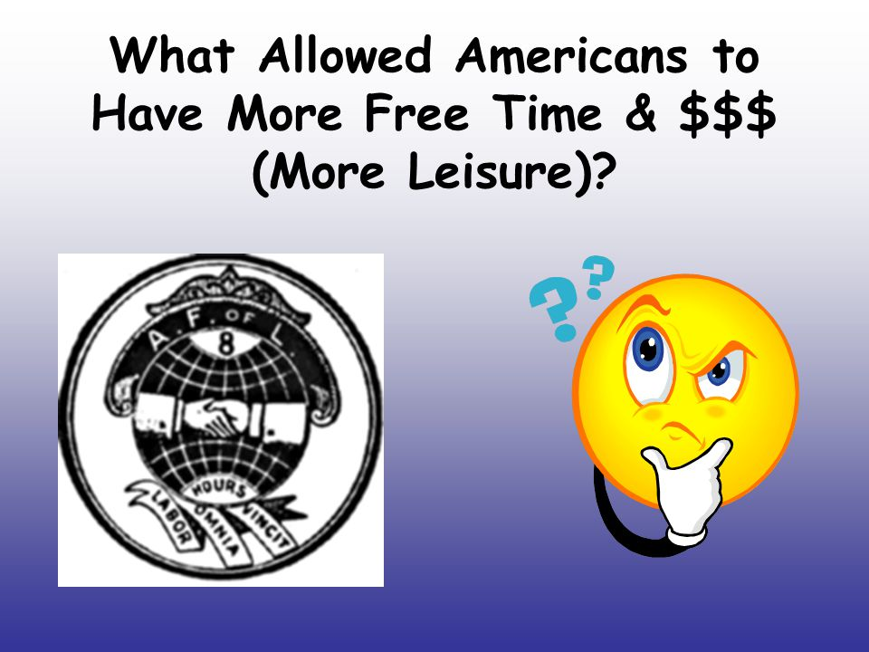 What Allowed Americans to Have More Free Time & $$$ (More Leisure)