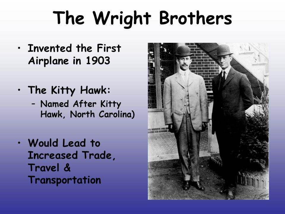 The Wright Brothers Invented the First Airplane in 1903