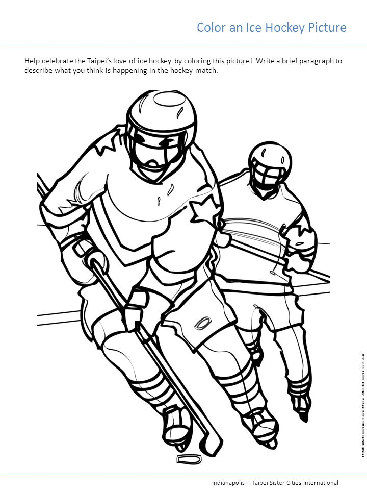 Color an Ice Hockey Picture
