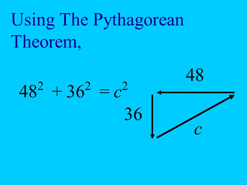 Using The Pythagorean Theorem,