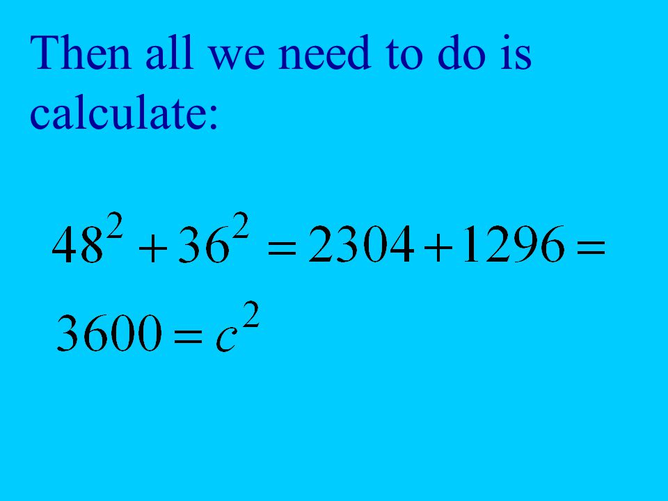 Then all we need to do is calculate: