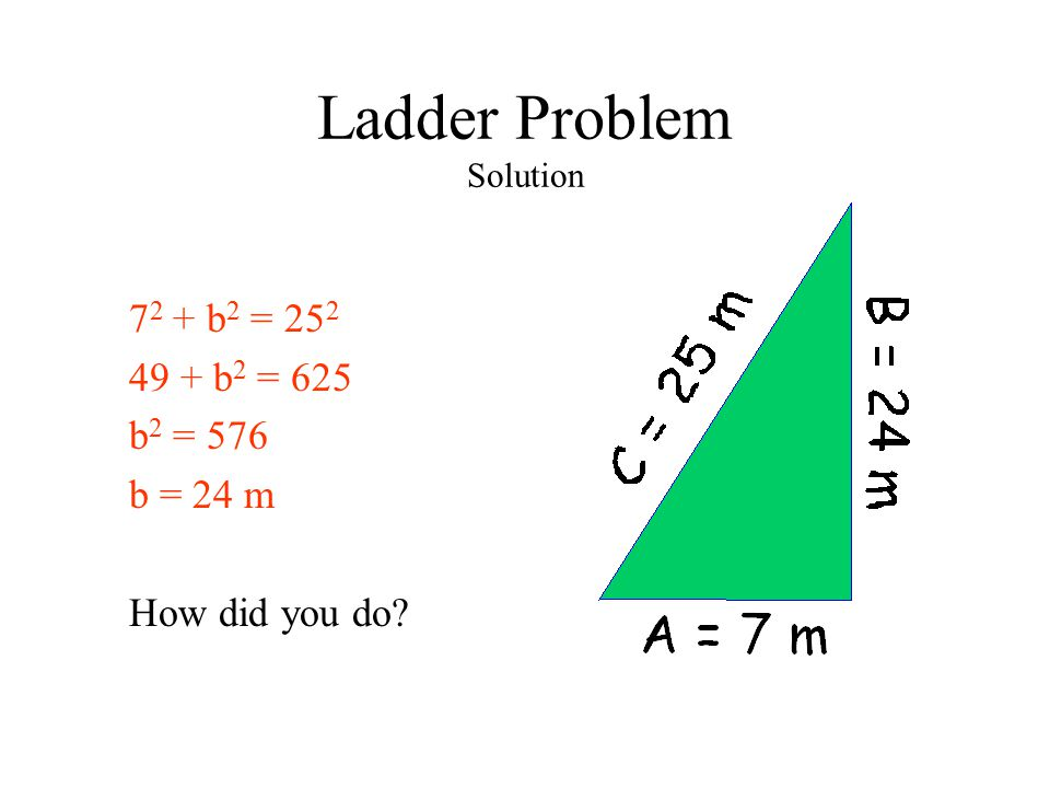 Ladder Problem Solution