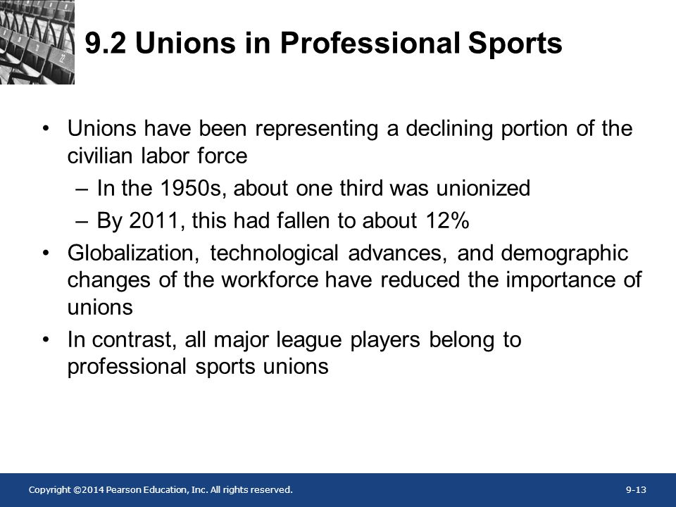 9.2 Unions in Professional Sports