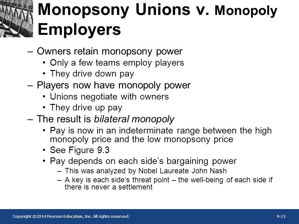 Monopsony Unions v. Monopoly Employers
