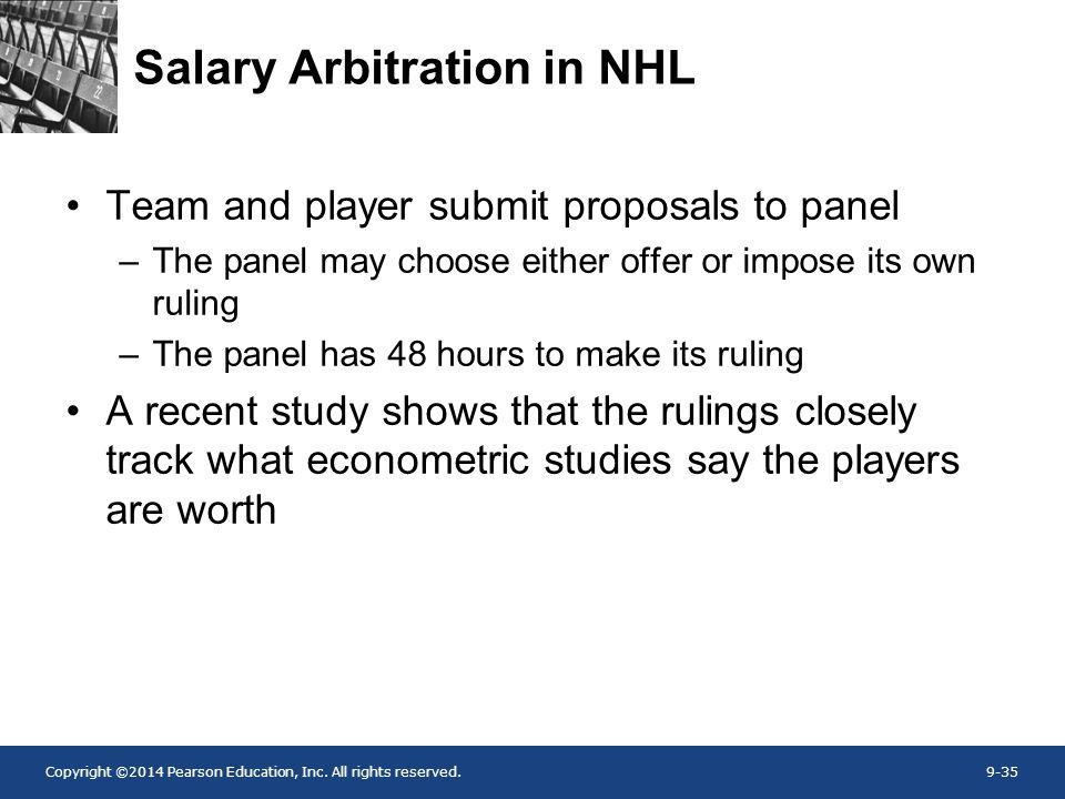 Salary Arbitration in NHL