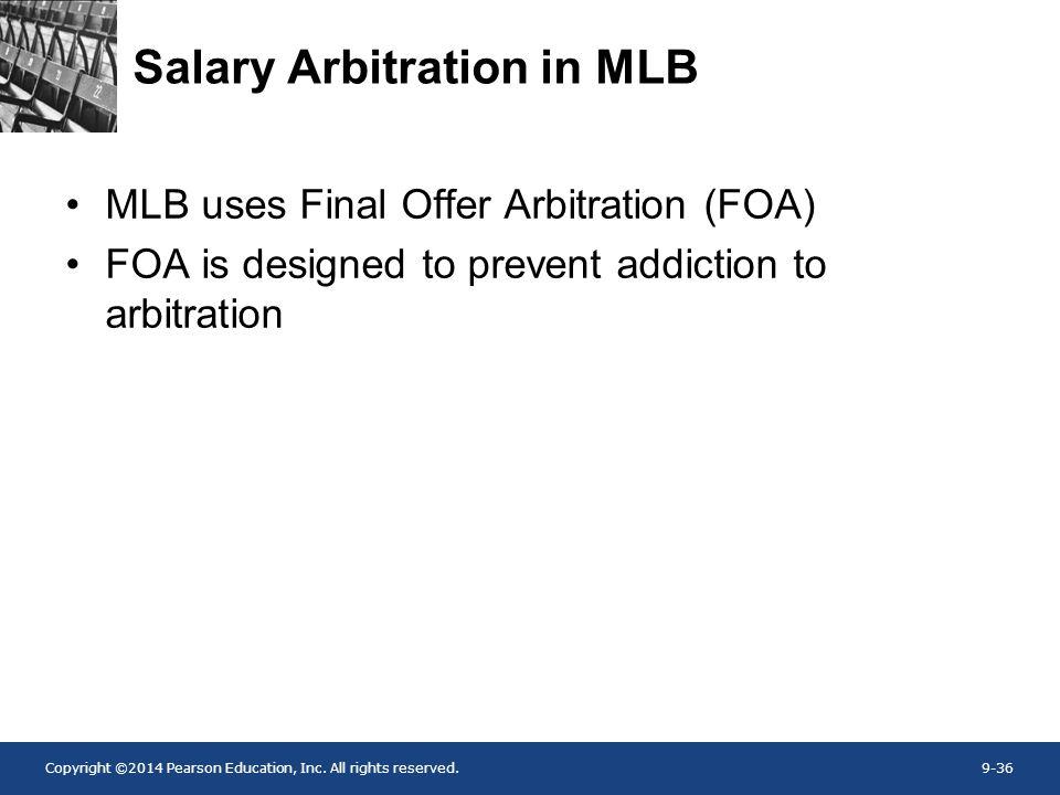 Salary Arbitration in MLB