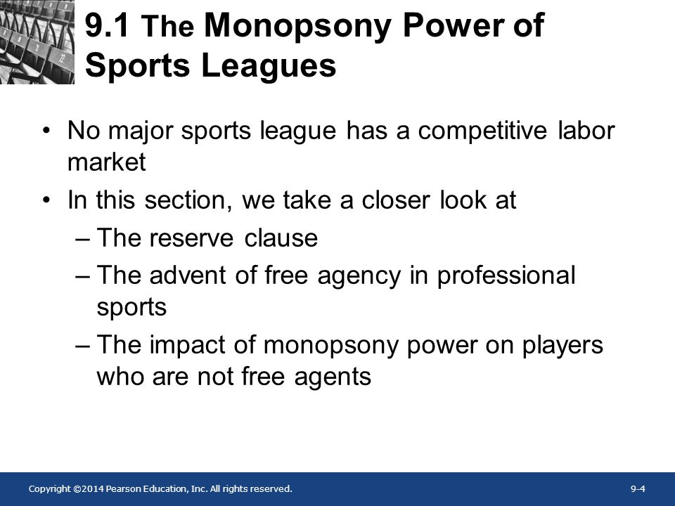 9.1 The Monopsony Power of Sports Leagues