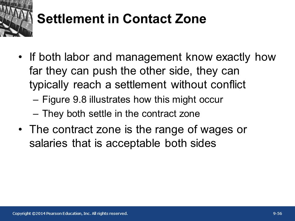 Settlement in Contact Zone